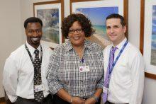Raymond Williams, Patricia Long and Mark Gardner.
